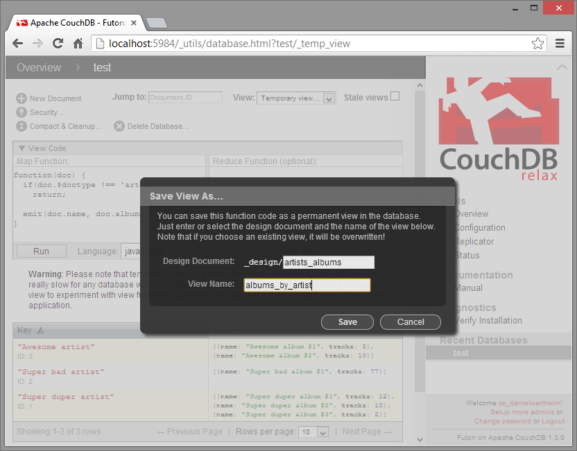 Get Up And Running With Couchdb And C Using Mycouch On