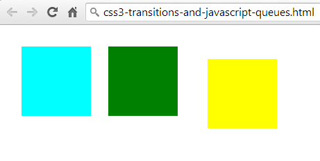 CSS3 transitions and JavaScript queues without jQuery