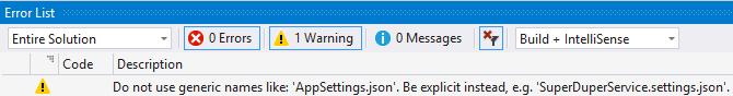 appsettings-build-warnings